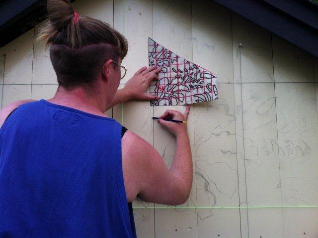 Mönsteröverföring till vägg