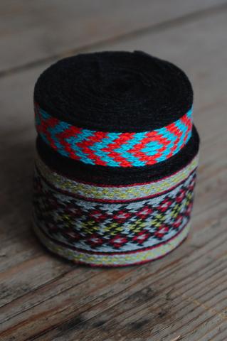 Brickband handvävda
