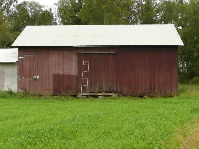 Inoljning av väggen linolja, lacknafta